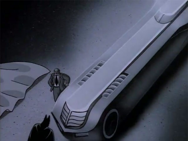 Batman: The Animated Series Batmobile as seen in the episode The Mechanic