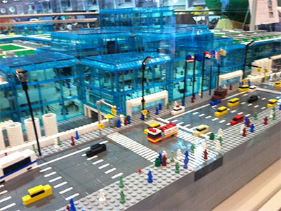 LEGO model of the Jacob K Javits Convention Center
