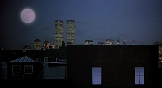 The World Trade Center as seen in the movie Moonstruck