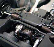 Knight Rider Legends KITT front suspension and engine bottom (left)