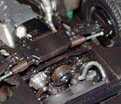 Knight Rider Legends KITT  front suspension and engine bottom (right)