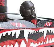 Deathmobile front detail with statue head