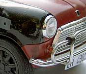 Bourne Identity Mini right front fender detail