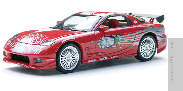 Vin Diesel's Mazda RX-7 from the movie The Fast and the Furious