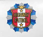 Highway Patrol door emblem