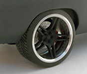 1970 Dodge Charger rear wheel