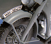 Indiana Jones and the Last Crusade motorcycle front fender detail