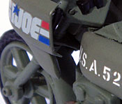 GI Joe Rapid Fire Motorcycle cowl & tank detail