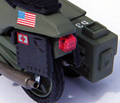 GI Joe Rapid Fire Motorcycle rear