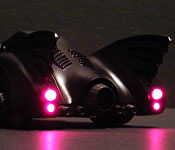 1989 Batmobile with taillights on
