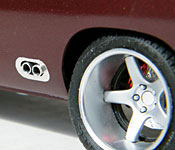 1969 Dodge Charger Daytona exhaust and wheel detail