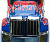 Optimus Prime grille detail
