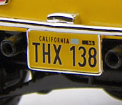 American Graffiti '32 Ford THX 138 license plate