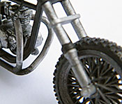 The Walking Dead Triumph Bonneville Chopper front fork