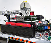 Ghostbusters Ecto-1A siren, lights, and fan box detail