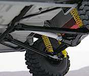 Off-road 1970 Dodge Charger chassis detail