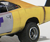 1969 Dodge Charger Daytona flank detail