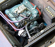 1969 Dodge Charger Daytona engine right side