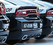 Fast Five 2011 Dodge Charger Pursuit rear bumper detail