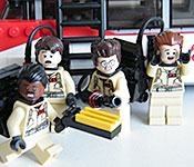 LEGO Ecto-1 minifig alternate faces