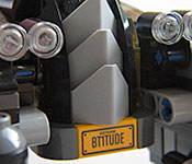 The LEGO Batman Movie Batmobile front detail