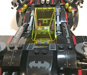 The LEGO Batman Ultimate Batmobile cockpit