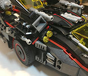 The LEGO Batman Ultimate Batmobile side detail