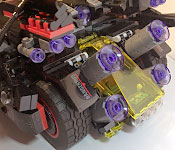 The LEGO Batman Ultimate Batmobile rear