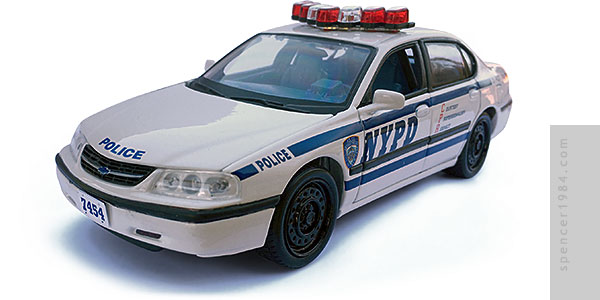 Matt Damon's NYPD Impala from the movie The Bourne Ultimatum