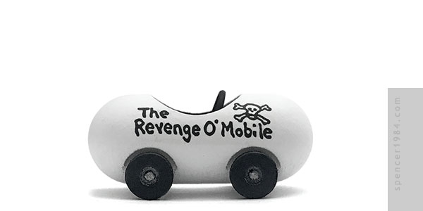 Revenge-O-Mobile from the comic strip Pearls Before Swine