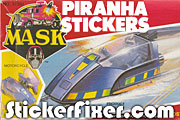 MASK Piranha Stickers at StickerFixer.com