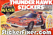 MASK Thunderhawk Stickers at StickerFixer.com