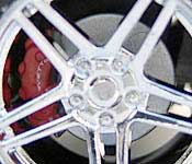 Greenlight Collectibles 2006 Corvette Indianapolis Pace Car Brake Detail