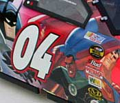 Team Caliber 2004 Justice League Monte Carlo Parade Car Side Graphics Detail