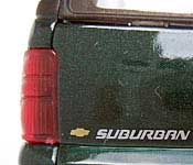 Welly 2001 Chevrolet Suburban Tailgate Detail