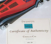 Walt Disney Classics Collection Cruella's Car Certificate of Authenticity