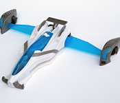 Mattel Max Steel Jet Racer Chassis Detail