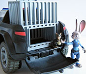 Tomy Judy's Police Cruiser figures and rear capture area open