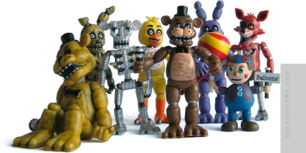 Five Nights at Freddy's Anamatronics