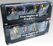 Five Nights at Freddy's Anamatronics Packaging