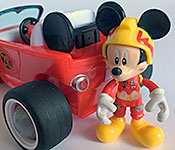 Disney Store Exclusive Mickey and the Roadster Racers Mickey with Mickey figure
