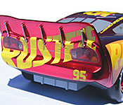 Jada Lightning McQueen rear detail