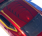Jada Toys Iron Man Chevrolet Camaro roof detail