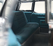 Yat Ming 1972 Lincoln Reagan Car Presidential Limousine rear seat