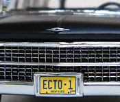 Ghostbusters Pre-Ectomobile grille and license plate detail